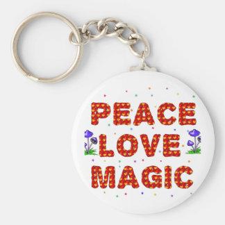 Peace Love Magic Keychain