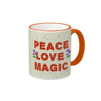 Peace Love Magic Mugs