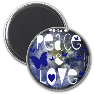Peace & Love - Magnet