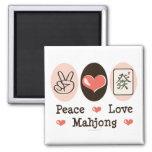 Peace Love Mahjong Magnet