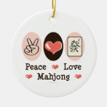 Peace Love Mahjong Ornament