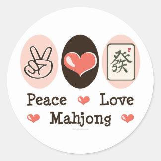 Peace Love Mahjong Sticker