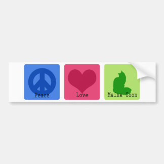 Peace Love Maine Coon Bumper Stickers