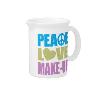 Peace Love Make-Up Pitchers
