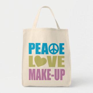 Peace Love Make-Up Tote Bag