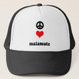 Peace love Malamute Trucker Hat