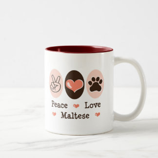 Peace Love Maltese Mug