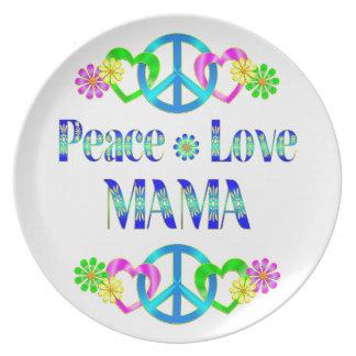Peace Love Mama Plate