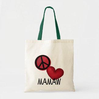 Peace Love Mamaw Tote Bag
