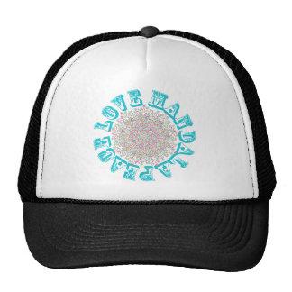 Peace Love Mandalas Trucker Hats