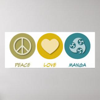Peace Love Manga Print
