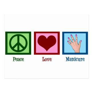Peace Love Manicure Postcard