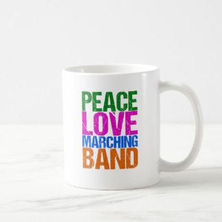 Peace Love Marching Band Coffee Mug