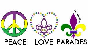 2ecd81eeb PEACE LOVE MARDI GRAS parades toddler shirt
