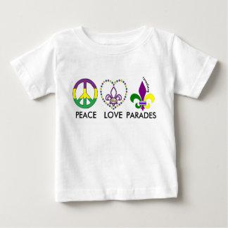 PEACE LOVE MARDI GRAS parades toddler shirt