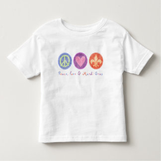Peace Love & Mardi Gras Toddler T-shirt