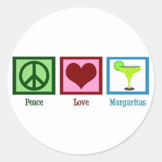 Peace Love Margaritas Classic Round Sticker