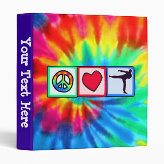 Peace, Love, Martial Arts 3 Ring Binder