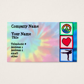Peace, Love, Martial Arts Business Card