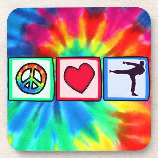 Peace, Love, Martial Arts Drink Coaster