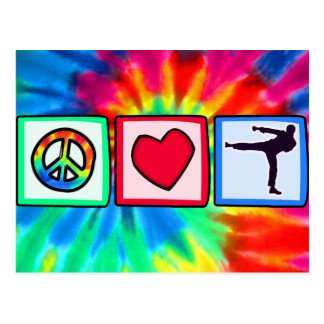 Peace, Love, Martial Arts Postcard