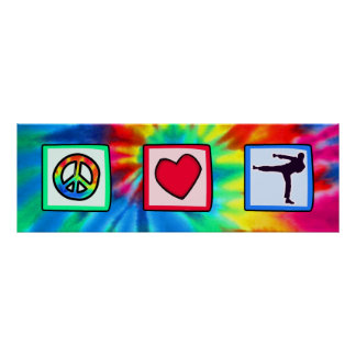 Peace, Love, Martial Arts Poster