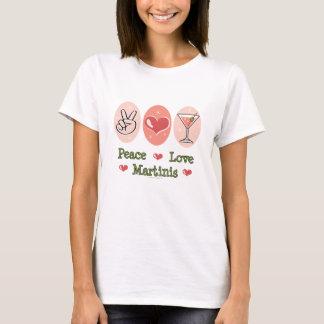 Peace Love Martini T-shirt
