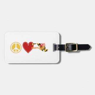 Peace Love Maryland Travel Bag Tag