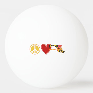 Peace Love Maryland Ping Pong Ball