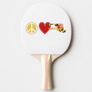 Peace Love Maryland Ping Pong Paddle