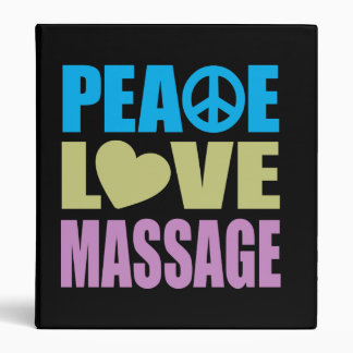Peace Love Massage Binder
