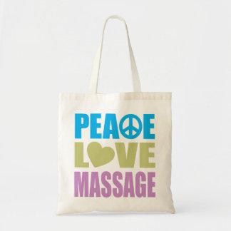 Peace Love Massage Budget Tote Bag
