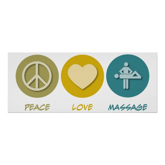 Peace Love Massage Poster