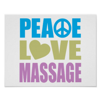 Peace Love Massage Poster