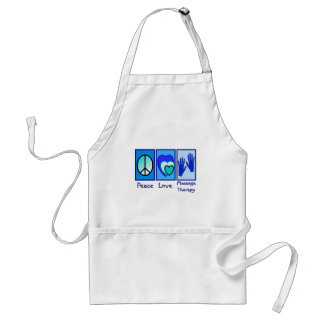 Peace, Love, Massage Therapy Gifts Adult Apron