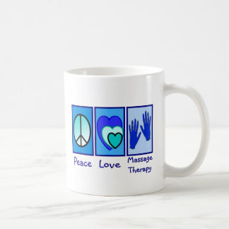 Peace, Love, Massage Therapy Gifts Classic White Coffee Mug
