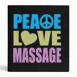 Peace Love Massage Vinyl Binders