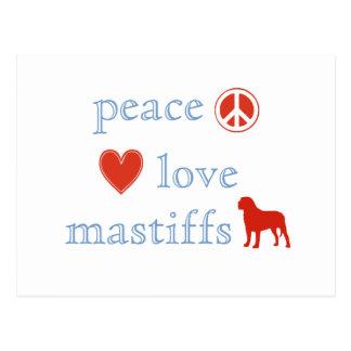 Peace Love Mastiffs Postcard