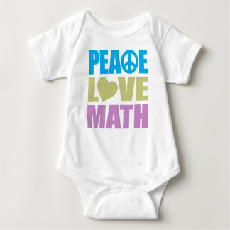 Peace Love Math Baby Bodysuit