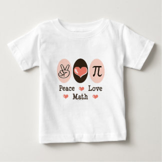 Peace Love Math Baby T-shirt