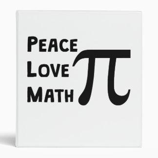 Peace Love Math 3 Ring Binder