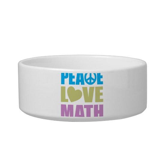 Peace Love Math Bowl