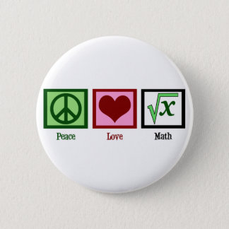 Peace Love Math Button