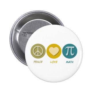 Peace Love Math Pins