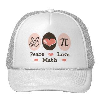Peace Love Math Cap Hat