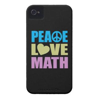 Peace Love Math Case-Mate iPhone 4 Case