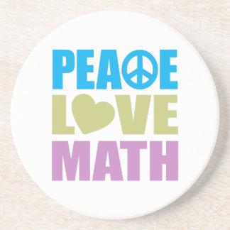 Peace Love Math Coasters