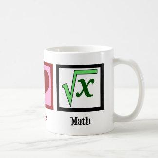 Peace Love Math Coffee Mug