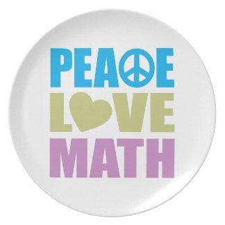 Peace Love Math Dinner Plate