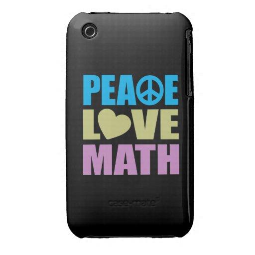 Peace Love Math iPhone 3 Case-Mate Cases